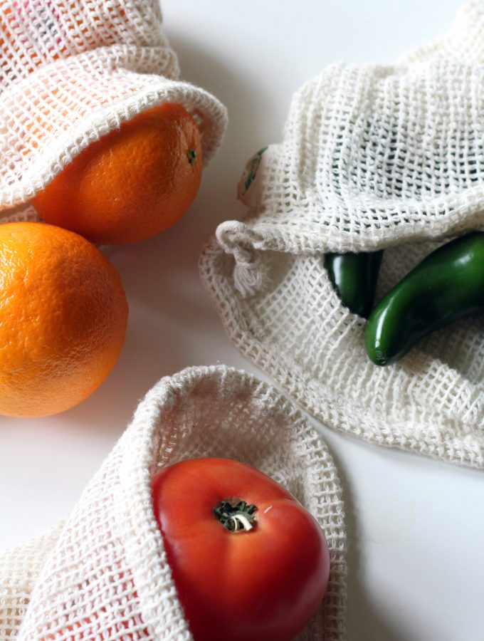Produce in cloth mesh bags